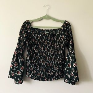Express Wide Sleeve Off-The-Shoulder Blouse